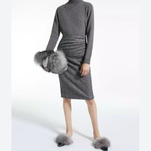 MaxMara Weekend Jersey Grey Pencil Skirt